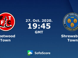 فليتوود تاون ضد شروزبري الدوري الإنجليزي 1 لكرة القدم